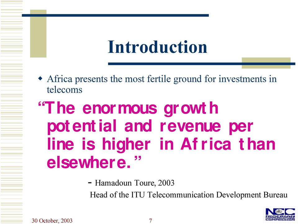 per line is higher in Africa than elsewhere.