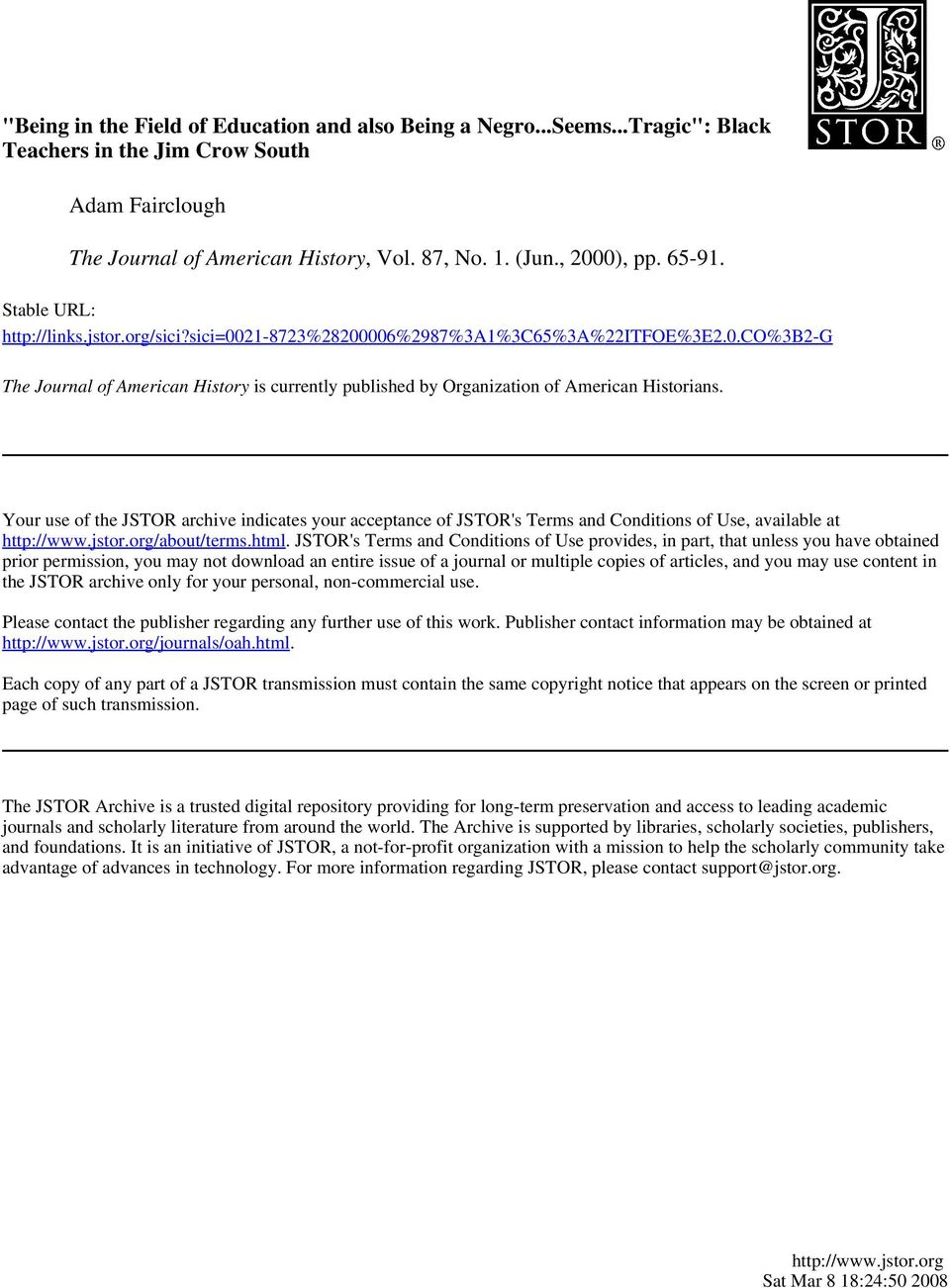 Your use of the JSTOR archive indicates your acceptance of JSTOR's Terms and Conditions of Use, available at http://www.jstor.org/about/terms.html.