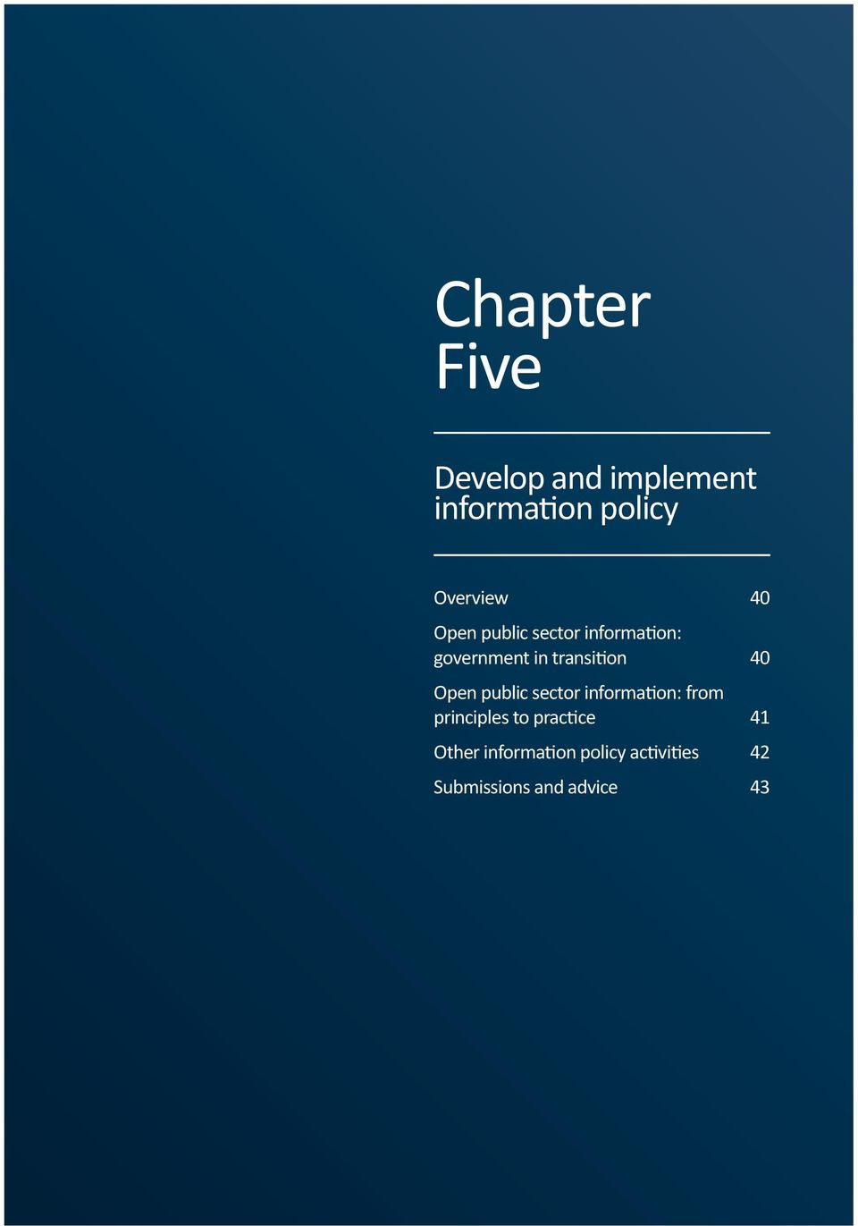 Open public sector information: from principles to practice 41