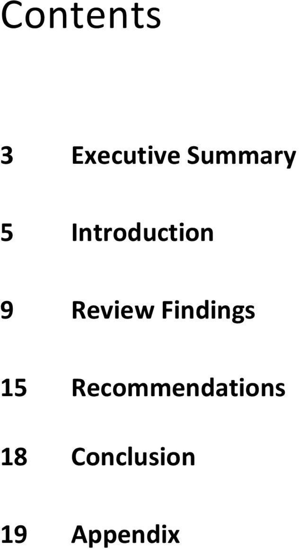 Review Findings 15