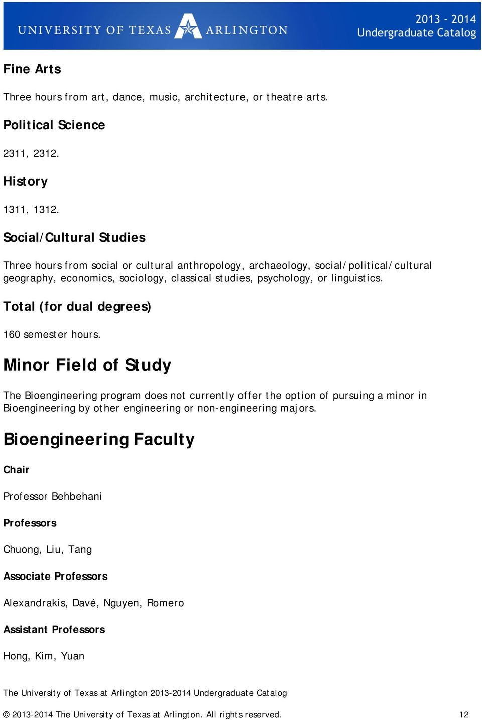 Total (for dual degrees) 160 semester hours.