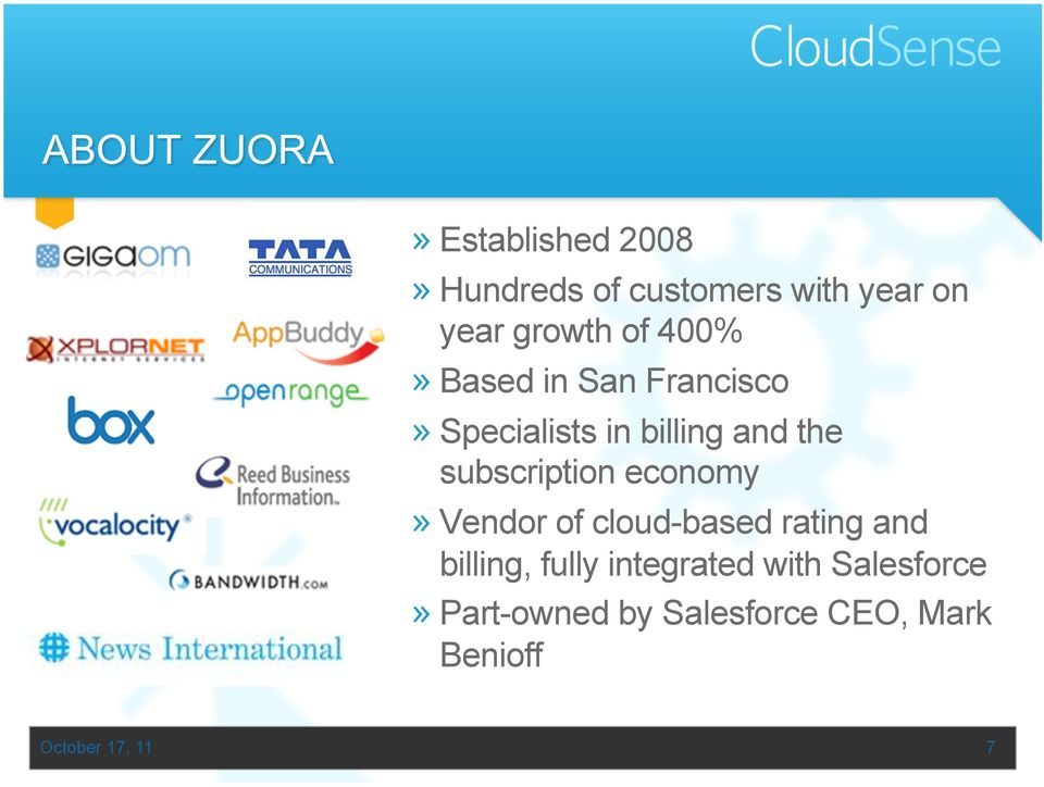 subscription economy» Vendor of cloud-based rating and billing, fully