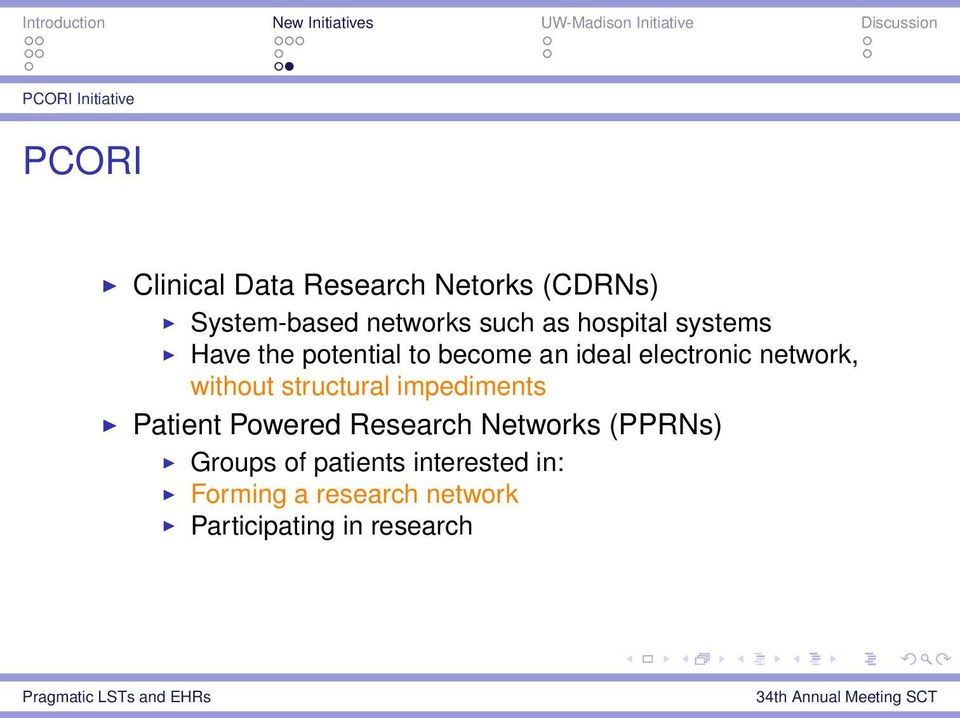 electronic network, without structural impediments Patient Powered Research
