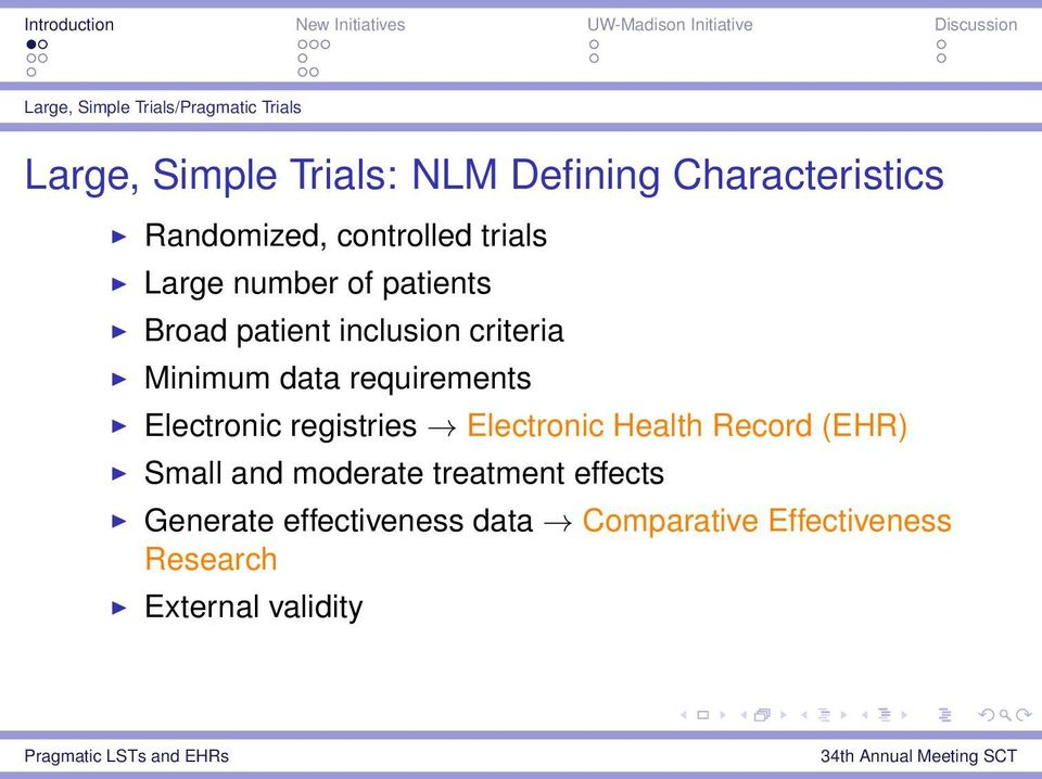 Minimum data requirements Electronic registries Electronic Health Record (EHR) Small and