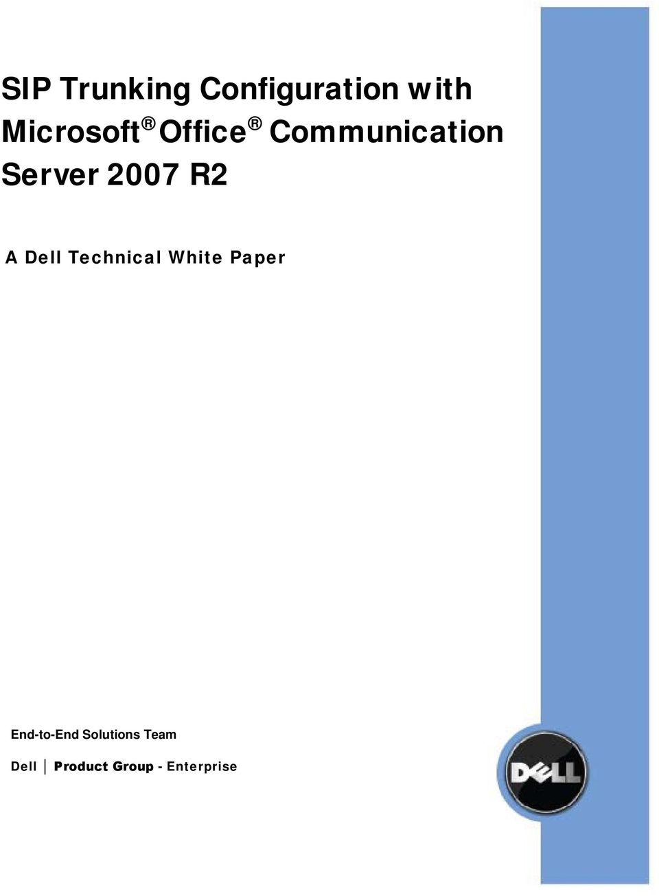 2007 R2 A Dell Technical White Paper