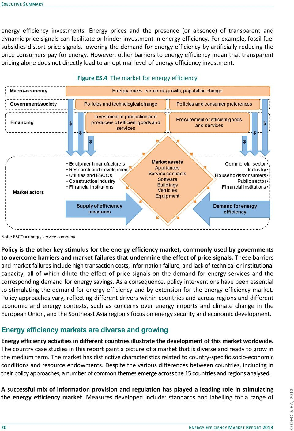 However, other barriers to energy efficiency mean that transparent pricing alone does not directly lead to an optimal level of energy efficiency investment. Figure ES.
