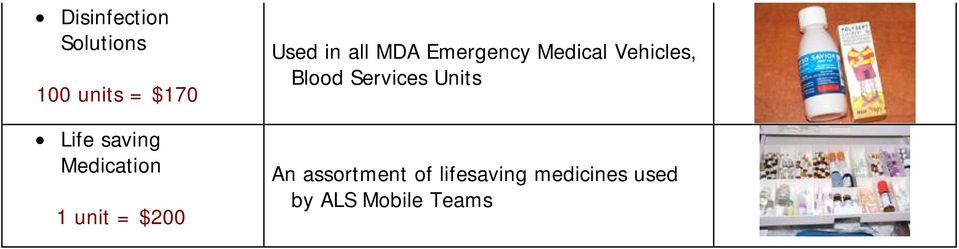 Emergency Medical Vehicles, Blood Services Units
