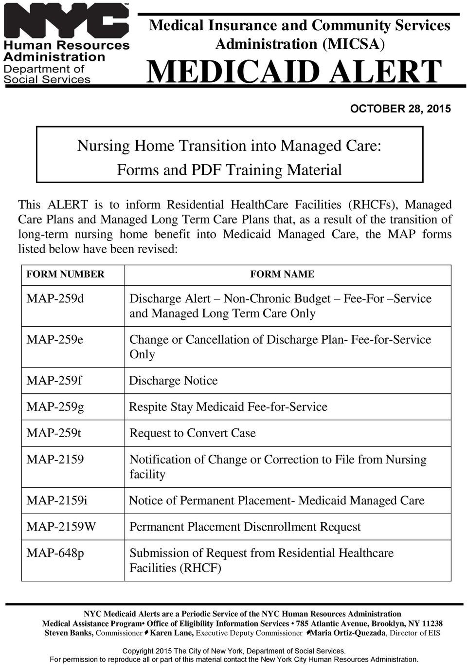 Nursing home transition into managed care forms and pdf for Form 2159