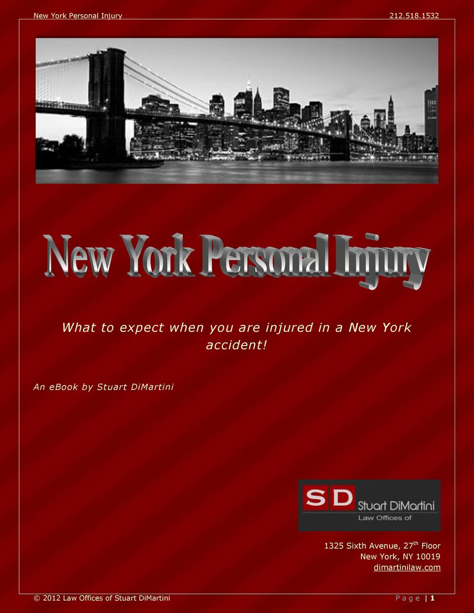An ebook by Stuart DiMartini 1325 Sixth Avenue, 27