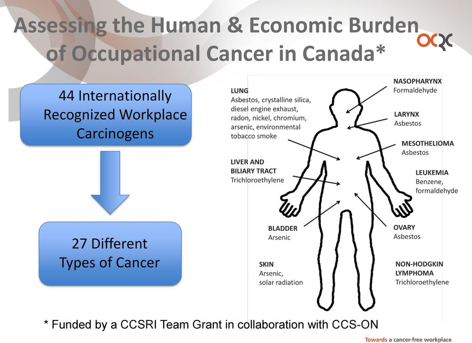 Recognized Workplace Carcinogens 27 Different Types