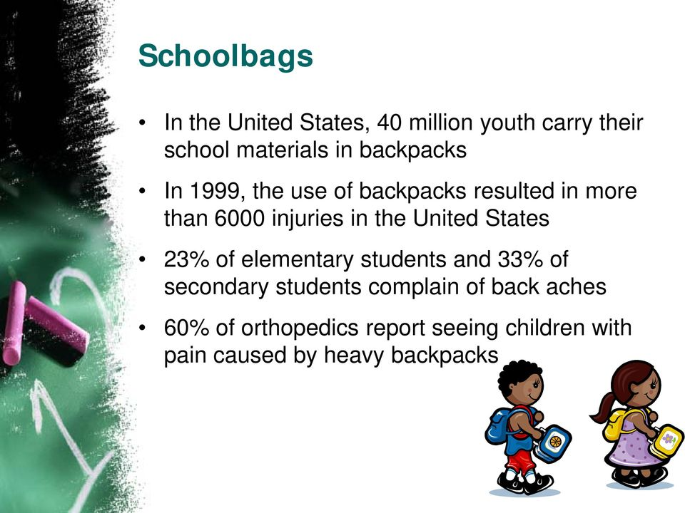 United States 23% of elementary students and 33% of secondary students complain of