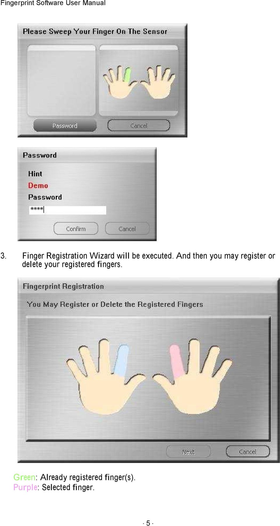 And then you may register or delete your