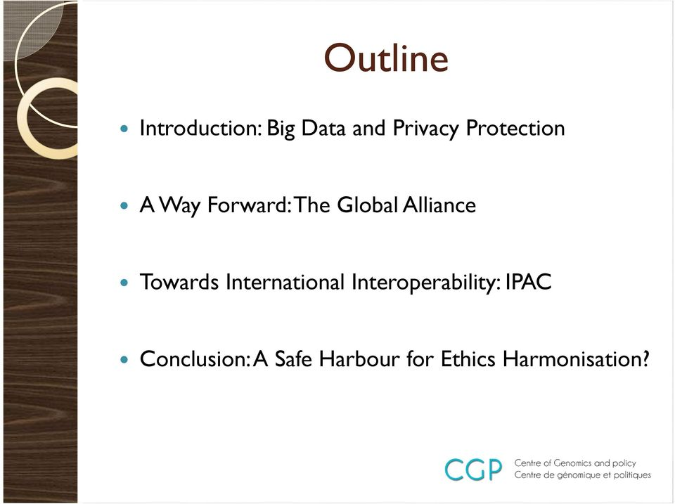 Towards International Interoperability: IPAC