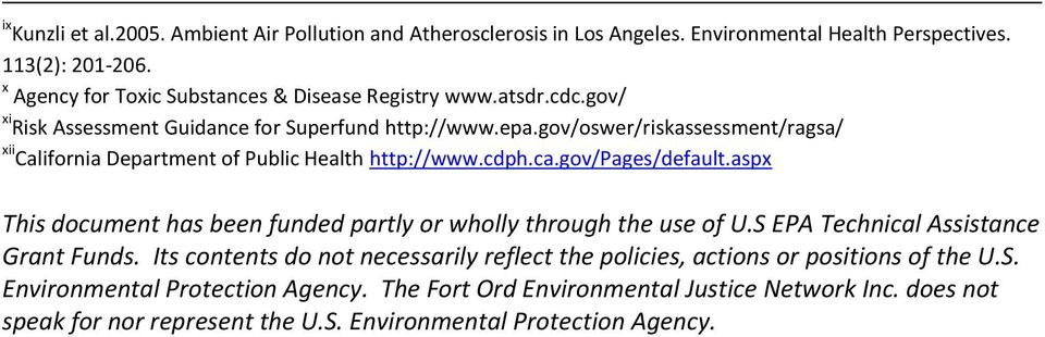 gov/oswer/riskassessment/ragsa/ xii California Department of Public Health http://www.cdph.ca.gov/pages/default.