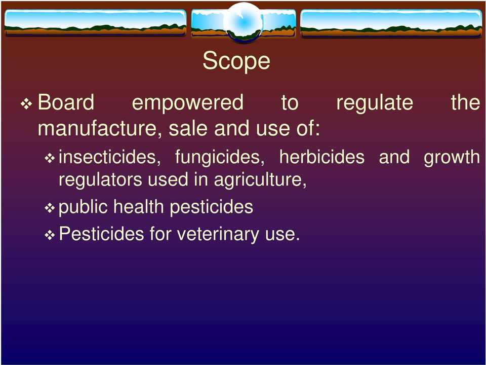 herbicides and growth regulators used in