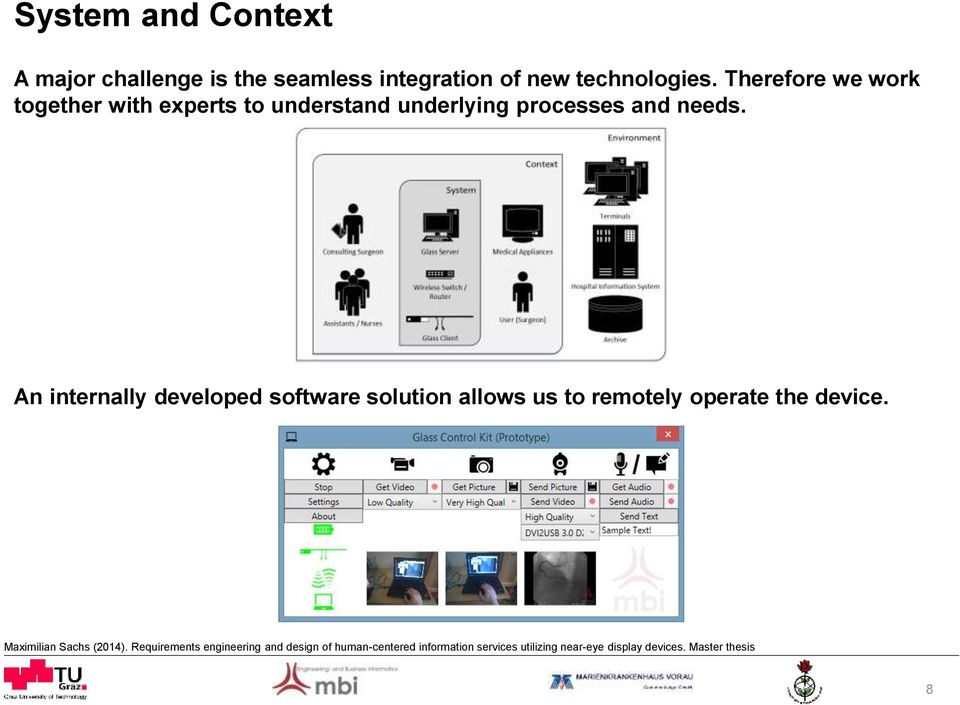 software solution allows us to remotely operate the device Maximilian Sachs (2014) Requirements