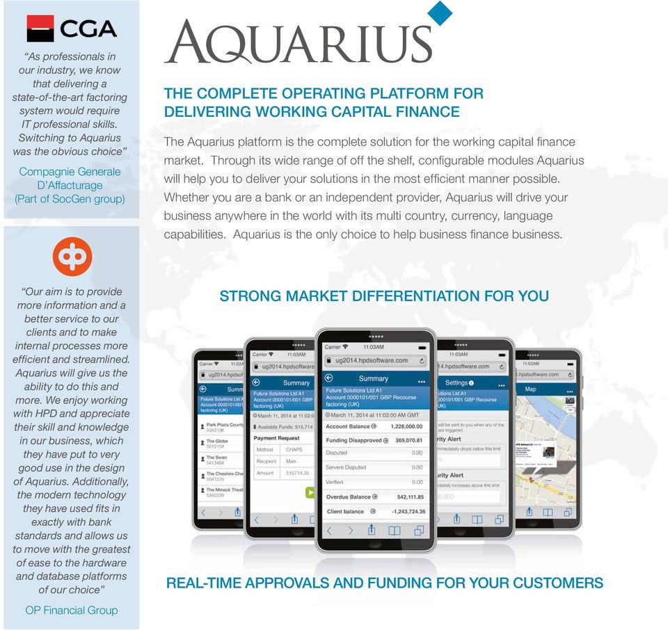 the complete solution for the working capital finance market.