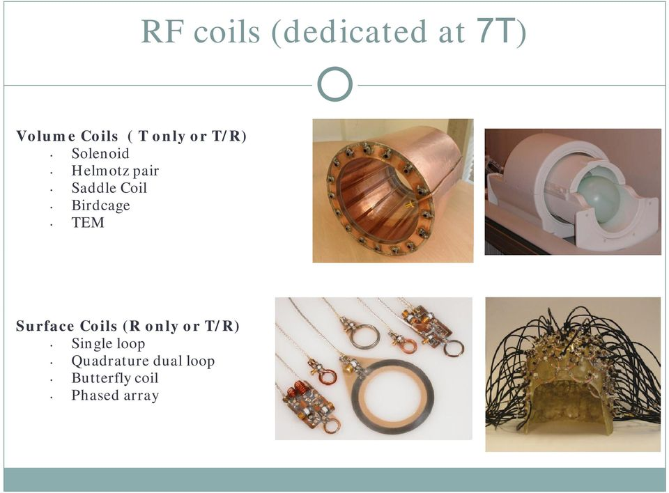 Birdcage TEM Surface Coils (R only or T/R)