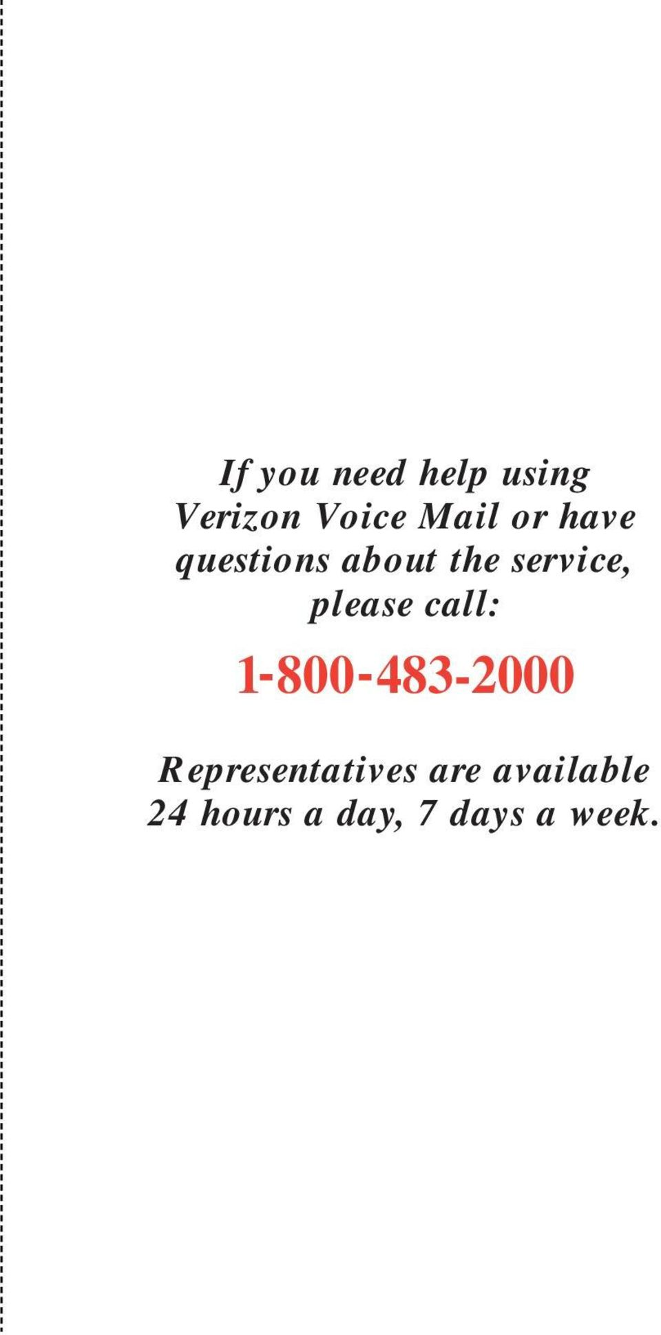 service, please call: -800-8-000
