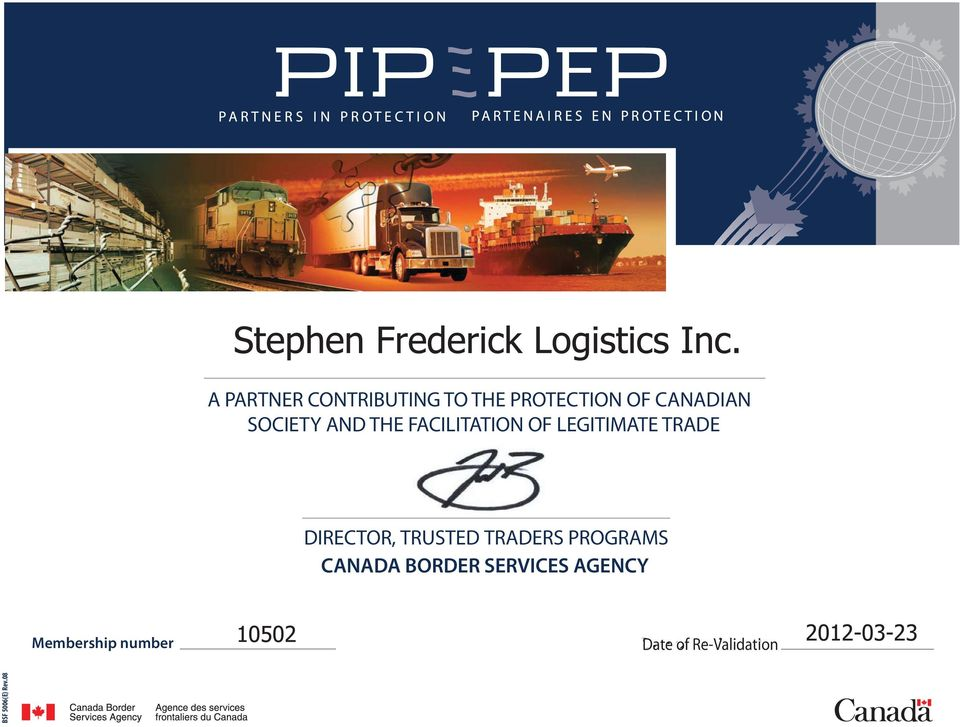 DIRECTOR, TRUSTED TRADERS PROGRAMS CANADA BORDER
