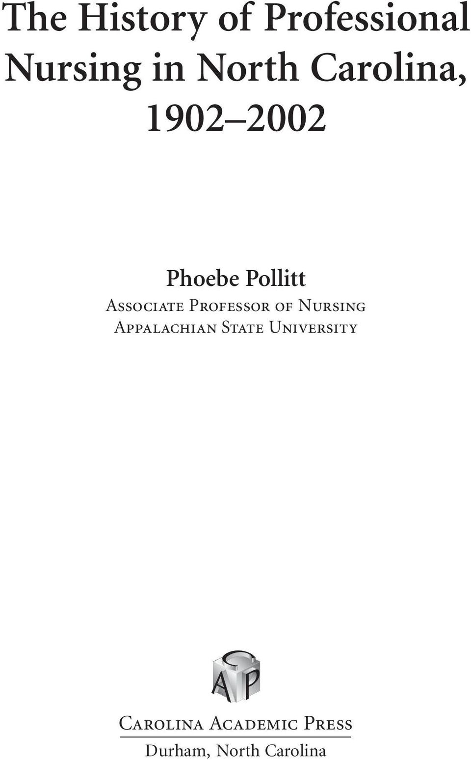 Professor of Nursing Appalachian State