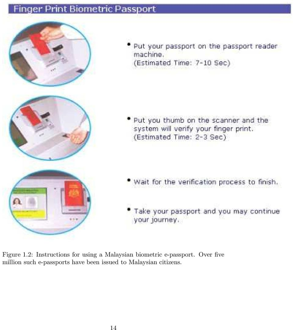 Malaysian biometric e-passport.
