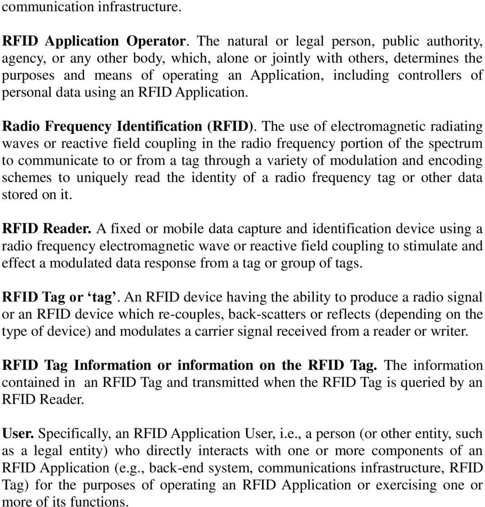 personal data using an RFID Application. Radio Frequency Identification (RFID).