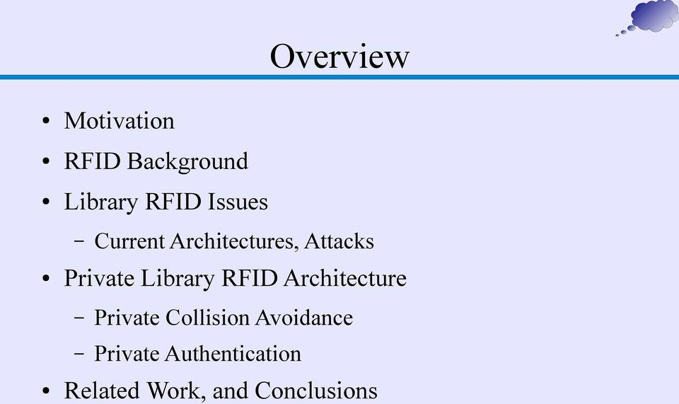 Library RFID Architecture Private Collision
