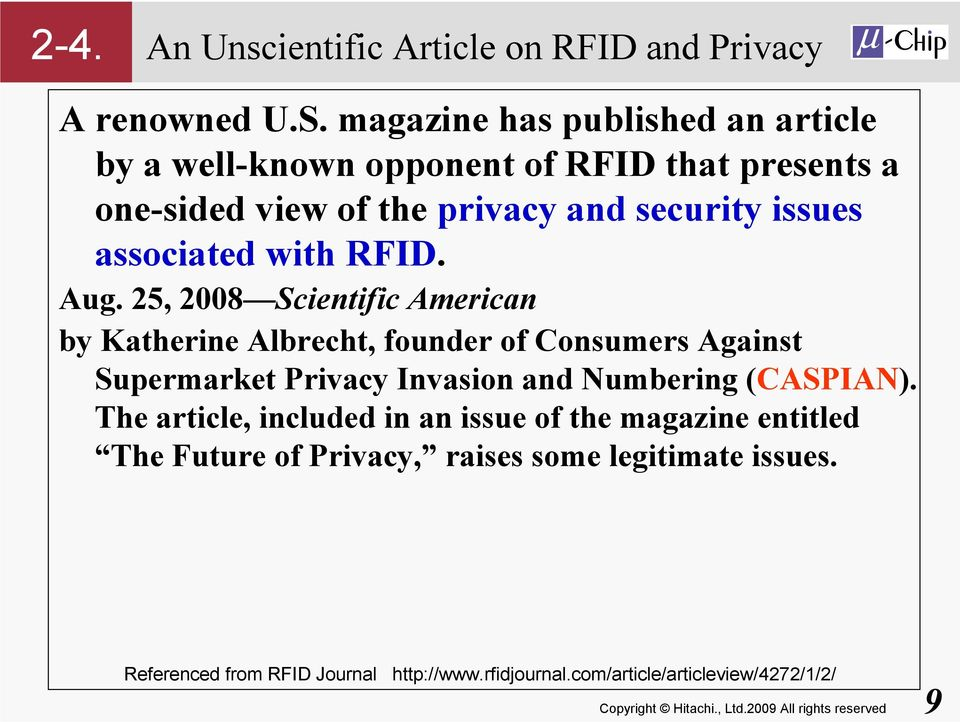 associated with RFID. Aug.