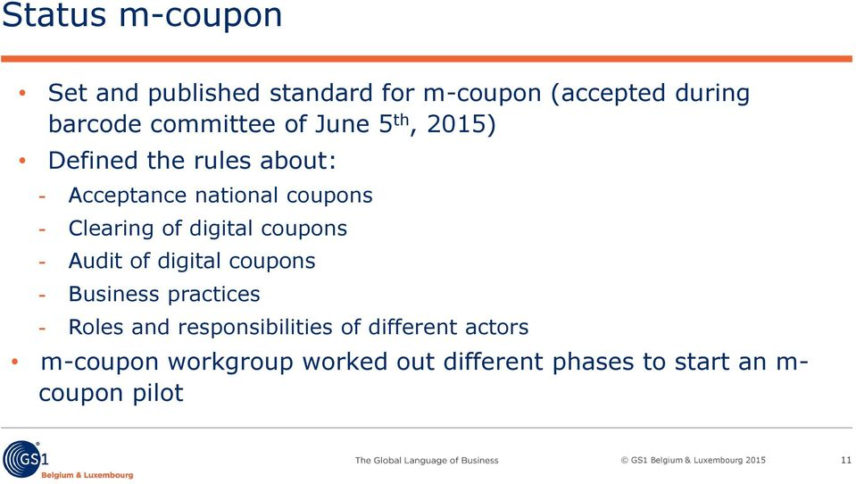 Clearing of digital coupons Audit of digital coupons Business practices Roles and