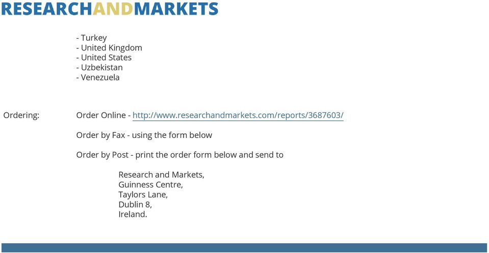 com/reports/3687603/ Order by Fax - using the form below Order by Post -