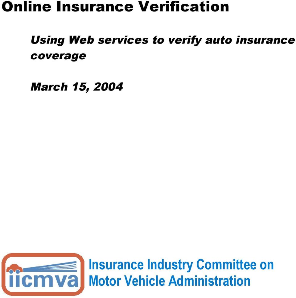 services to verify auto