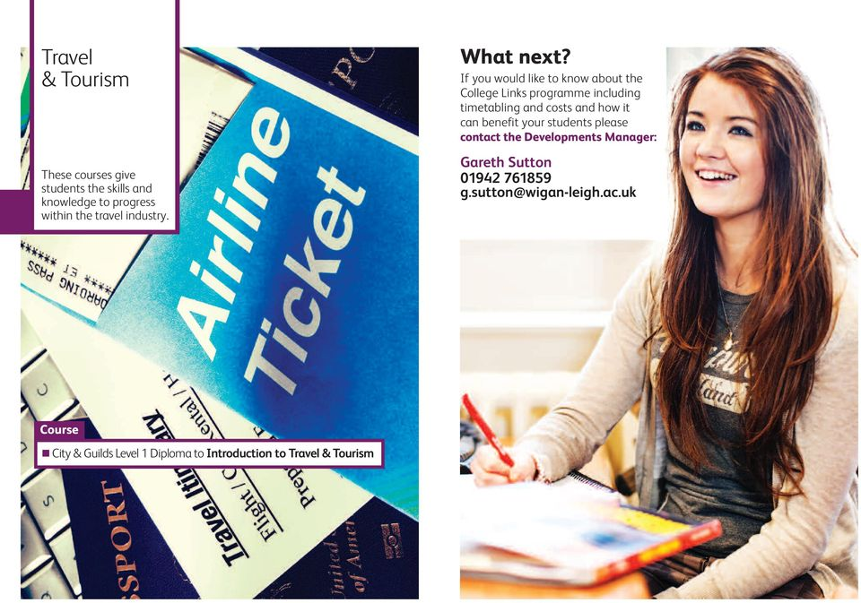 If you would like to know about the College Links programme including timetabling and costs and how it