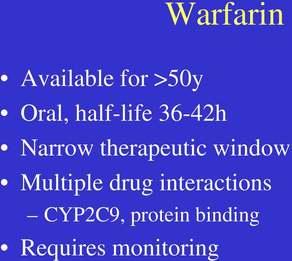 window Multiple drug interactions