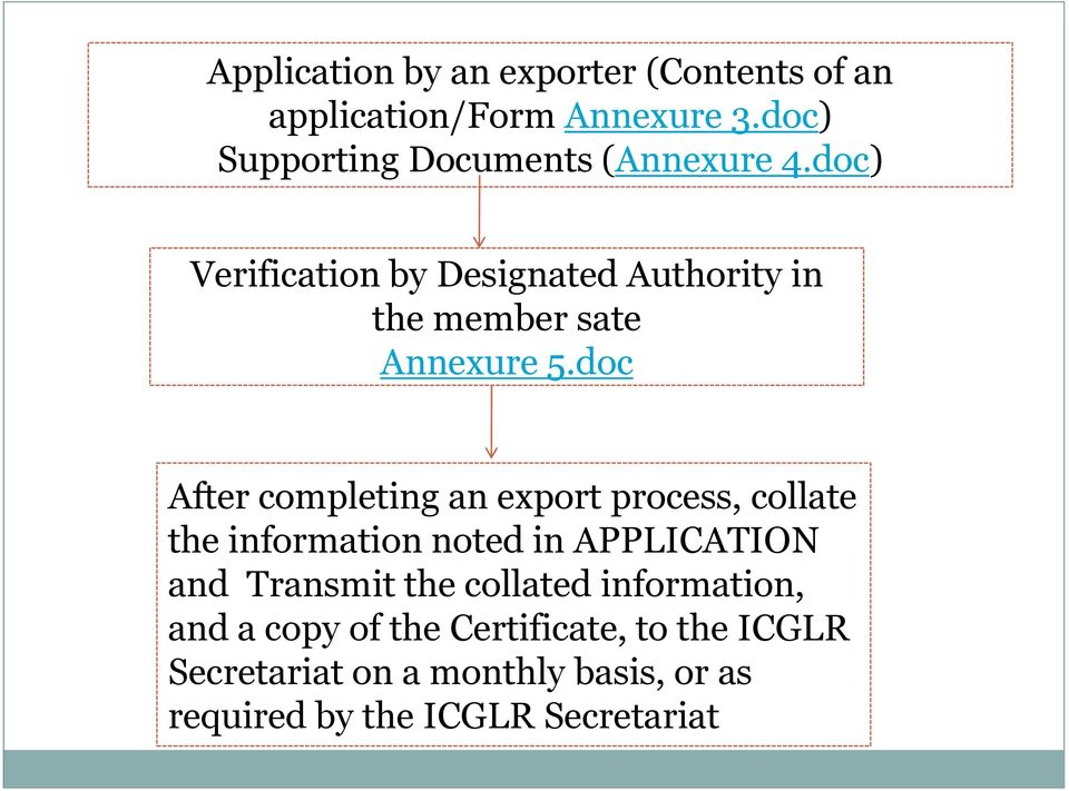 doc) Verification by Designated Authority in the member sate Annexure 5.