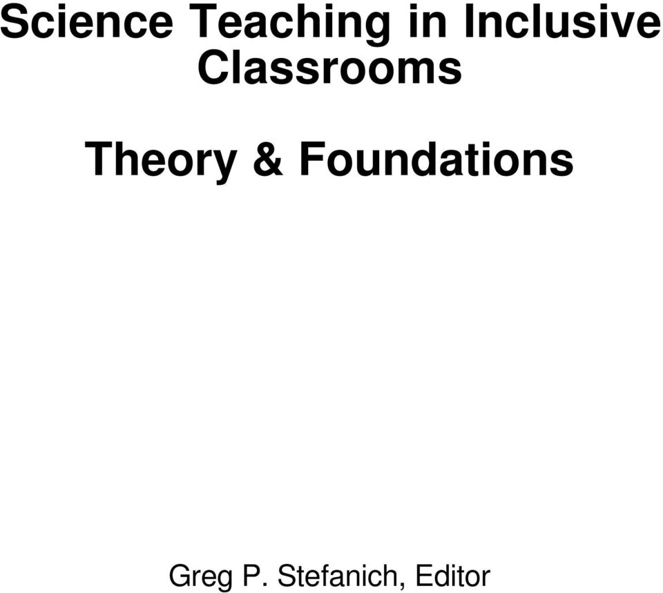 Theory & Foundations