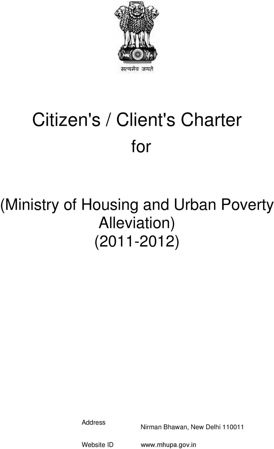 Poverty Alleviation) Address Website
