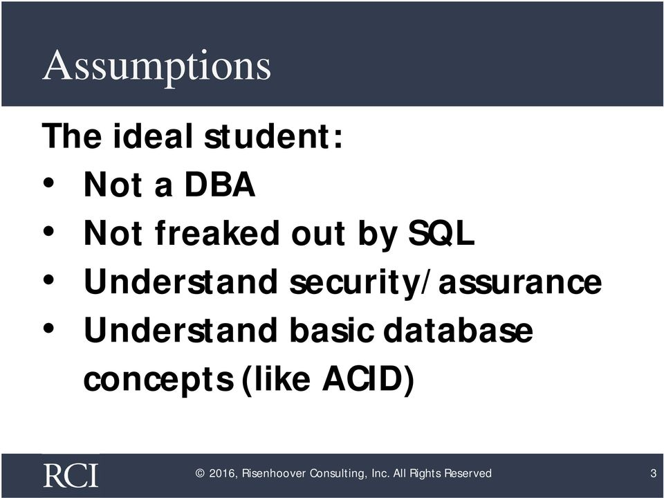 Understand basic database concepts (like ACID)