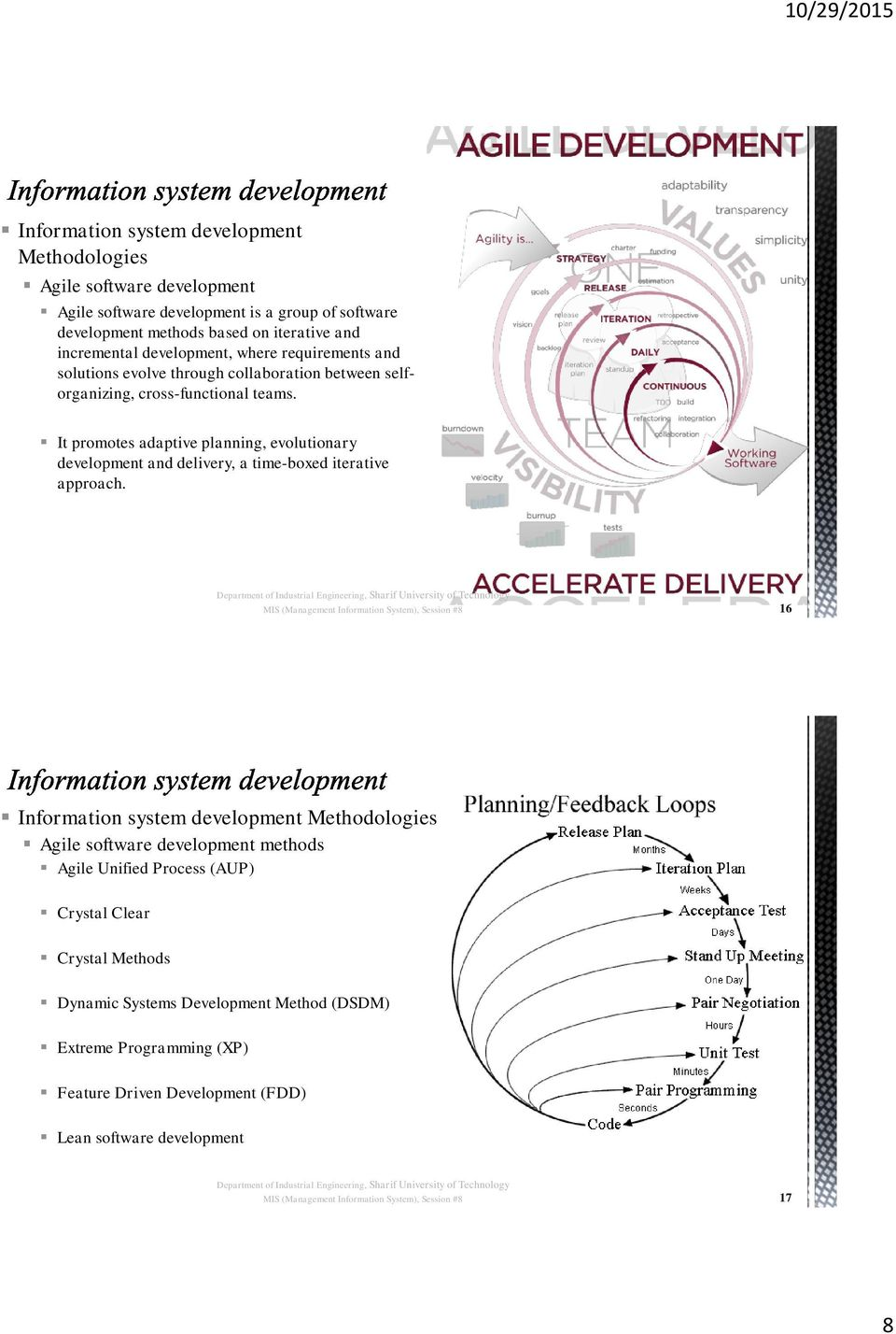 It promotes adaptive planning, evolutionary development and delivery, a time-boxed iterative approach.