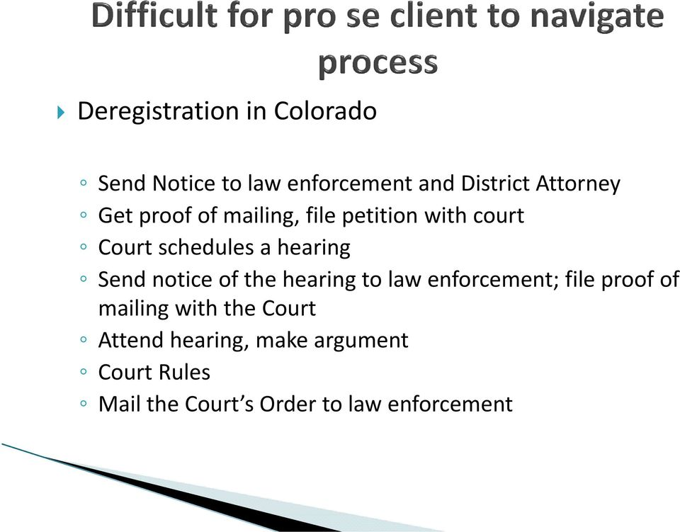 notice of the hearing to law enforcement; file proof of mailing with the Court