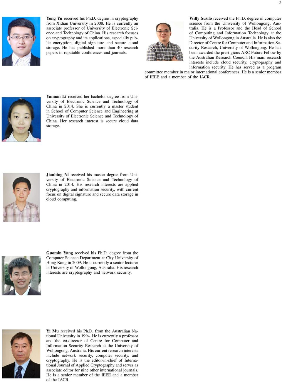 journals Yannan Li received her bachelor degree from University of Electronic Science and Technology of China in 2014 She is currently a master student in School of Computer Science and Engineering