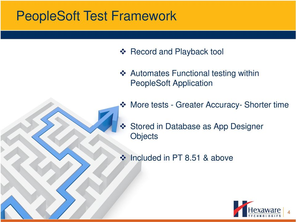 Application More tests - Greater Accuracy- Shorter time