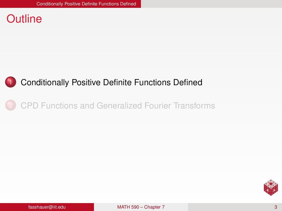 Functions Defined 2 CPD Functions and Generalized