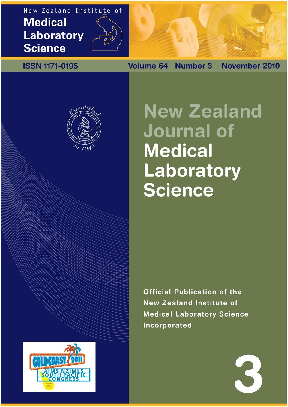 Laboratory Science Official Publication of the New Zealand Institute of Medical