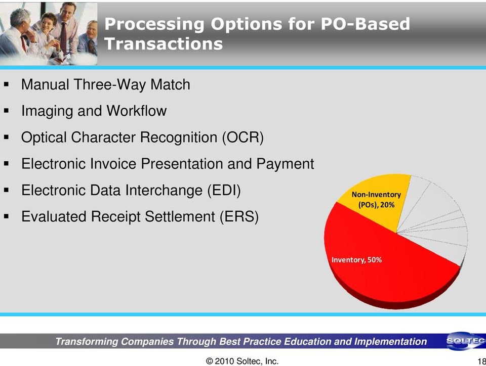 Invoice Presentation and Payment Electronic Data Interchange (EDI)