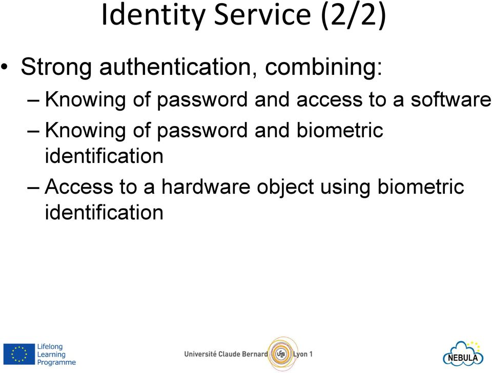 software Knowing of password and biometric