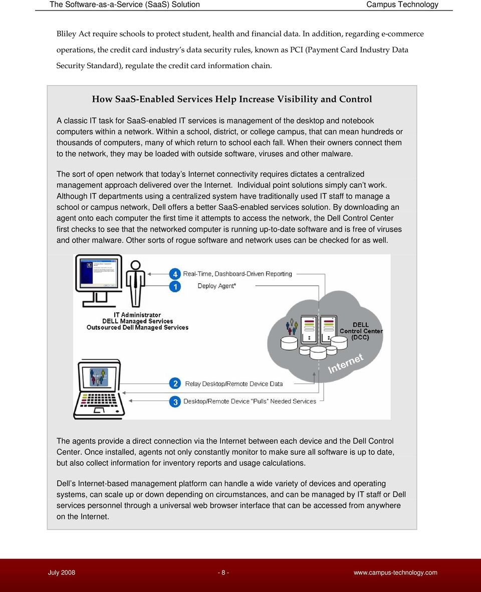 How SaaS-Enabled Services Help Increase Visibility and Control A classic IT task for SaaS-enabled IT services is management of the desktop and notebook computers within a network.