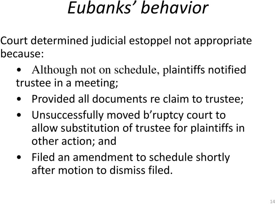 trustee; Unsuccessfully moved b ruptcy court to allow substitution of trustee for