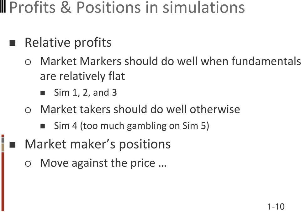 1, 2, and 3 Market takers should do well otherwise Sim 4 (too