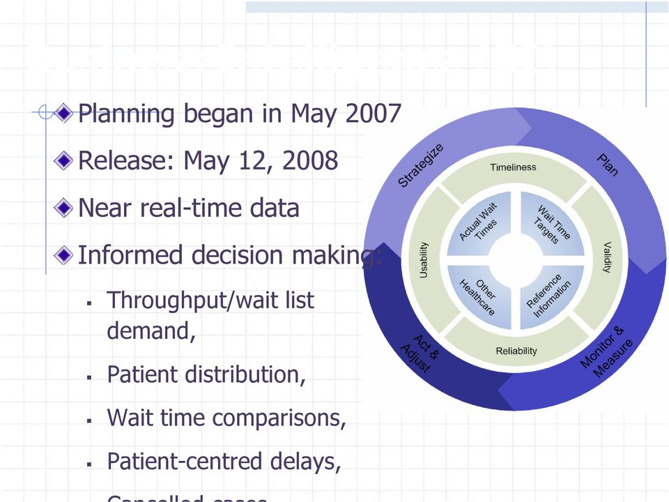 decision making: Throughput/wait list demand, Patient